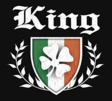 King Family Shamrock Crest (vintage distressed) Kids Clothes