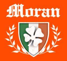 Moran Family Shamrock Crest (vintage distressed) Kids Tee
