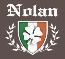 Nolan Family Shamrock Crest (vintage distressed) Kids Clothes