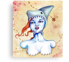 Shark Hat Canvas Print