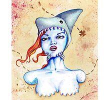 Shark Hat Photographic Print