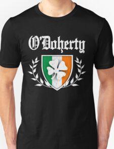 O'Doherty Family Shamrock Crest (vintage distressed) T-Shirt