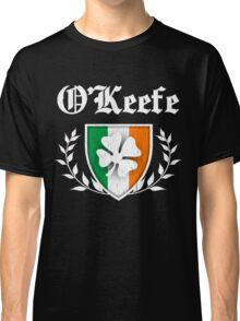O'Keefe Family Shamrock Crest (vintage distressed) Classic T-Shirt