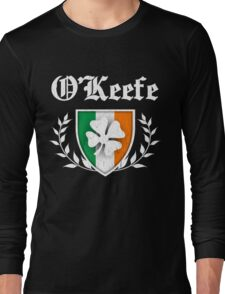 O'Keefe Family Shamrock Crest (vintage distressed) Long Sleeve T-Shirt