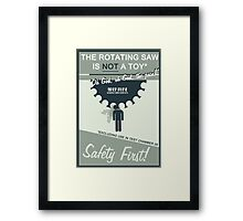 Minimalist Portal 2 Inspired Design - Aperture Science Humour (Gaming) Framed Print