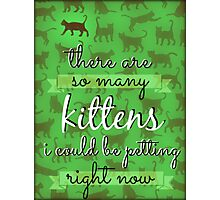 Kittens Though Photographic Print