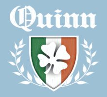 Quinn Family Shamrock Crest (vintage distressed) Baby Tee