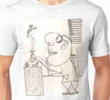The Mad Scientist Creates Something New Unisex T-Shirt