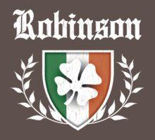 Robinson Family Shamrock Crest (vintage distressed) Kids Clothes