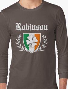 Robinson Family Shamrock Crest (vintage distressed) Long Sleeve T-Shirt