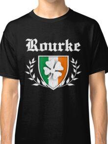 Rourke Family Shamrock Crest (vintage distressed) Classic T-Shirt