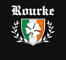Rourke Family Shamrock Crest (vintage distressed) Unisex T-Shirt