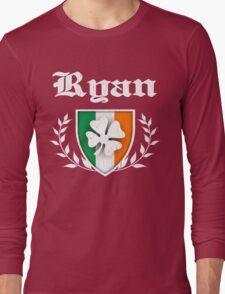 Ryan Family Shamrock Crest (vintage distressed) Long Sleeve T-Shirt