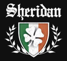 Sheridan Family Shamrock Crest (vintage distressed) Kids Clothes