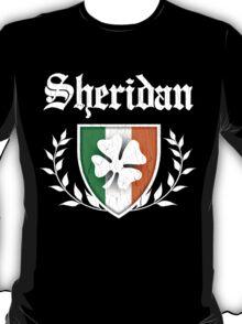 Sheridan Family Shamrock Crest (vintage distressed) T-Shirt