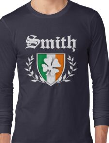 Smith Family Shamrock Crest (vintage distressed) Long Sleeve T-Shirt