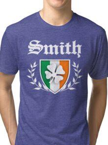 Smith Family Shamrock Crest (vintage distressed) Tri-blend T-Shirt