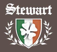 Stewart Family Shamrock Crest (vintage distressed) Kids Clothes