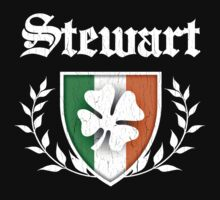 Stewart Family Shamrock Crest (vintage distressed) Kids Clothes