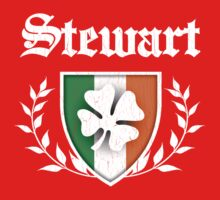 Stewart Family Shamrock Crest (vintage distressed) One Piece - Short Sleeve