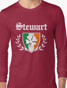 Stewart Family Shamrock Crest (vintage distressed) Long Sleeve T-Shirt