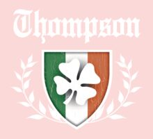 Thompson Family Shamrock Crest (vintage distressed) Kids Clothes