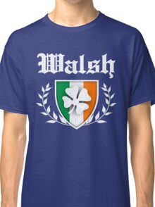 Walsh Family Shamrock Crest (vintage distressed) Classic T-Shirt