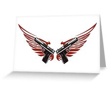 Guns with wings Greeting Card
