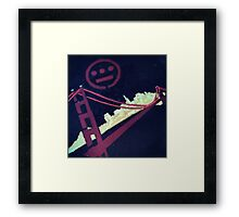 Stencil Golden Gate San Francisco Framed Print