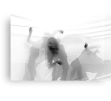 Group of contemporary dancers performing on stage  Canvas Print