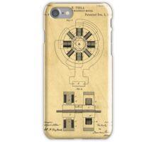 Nikola Tesla Electro Magnetic Motor Patent iPhone Case/Skin