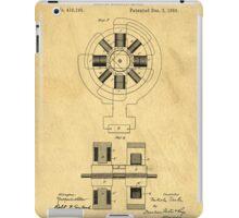 Nikola Tesla Electro Magnetic Motor Patent iPad Case/Skin