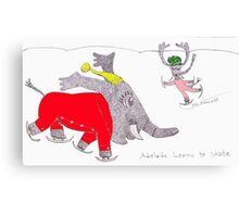 Adelaide Learns To Skate Canvas Print