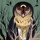 Wooden Owl by hbitik