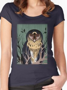 Wooden Owl Women's Fitted Scoop T-Shirt