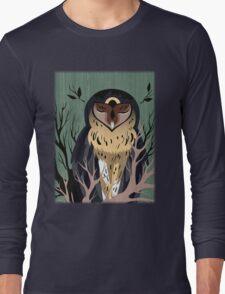 Wooden Owl Long Sleeve T-Shirt