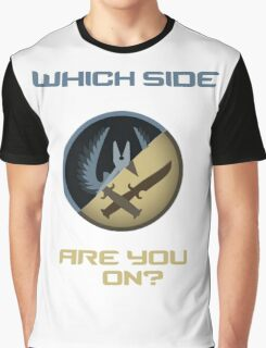 CSGO-Which side are you on?-Slanted Graphic T-Shirt