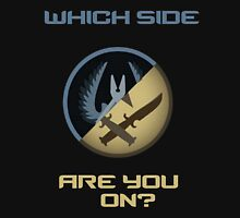 CSGO-Which side are you on?-Slanted Unisex T-Shirt