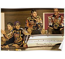 Wolves Speedway Team 4 members  Poster