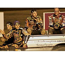 Wolves Speedway Team 4 members  Photographic Print