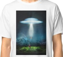 Alone boy and the ufo Classic T-Shirt