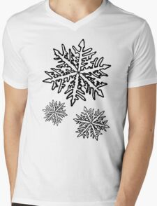Snowflake Mens V-Neck T-Shirt