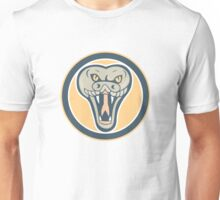 Rattle Snake Head Front Retro Unisex T-Shirt