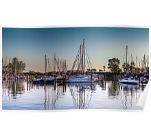 Sail boats in the harbour  Poster