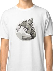 Super Steam Train Locomotive Man Classic T-Shirt