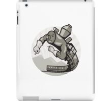 Super Steam Train Locomotive Man iPad Case/Skin