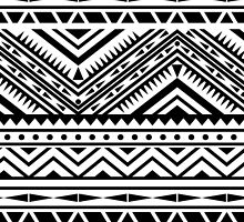 Aztec Design - Black & White by Abbideane