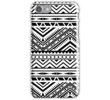 Aztec Design - Black & White iPhone Case/Skin