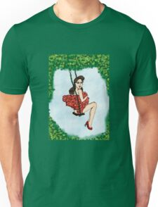 Playful Nymph Pin Up Unisex T-Shirt