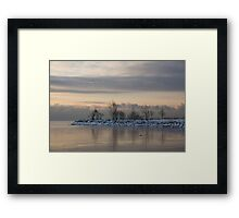 Pale, Still Morning on Lake Ontario Framed Print